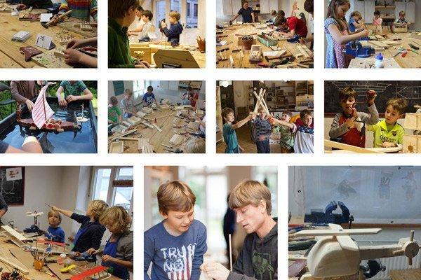 Voransicht der Werkgalerie - verschiedene Holzbauprojekte