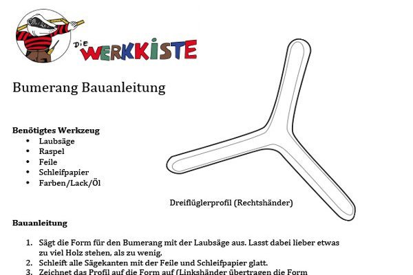 Beispielanleitung Bumerang